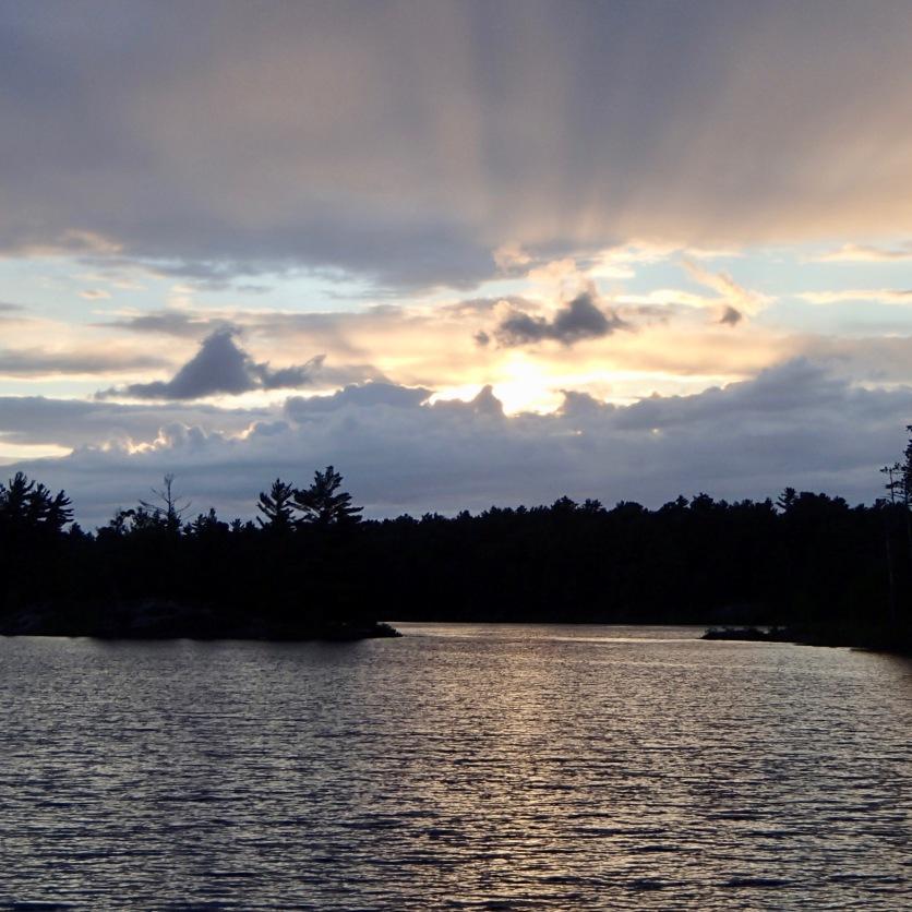 Post-rain sunset, Magnetwan, Ontario.