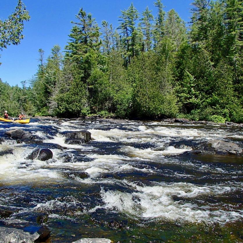 White water canoeing, Dumoine River, Quebec.